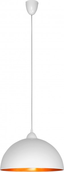 Pendelleuchte weiß / gold E27 110W