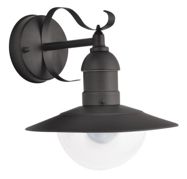 Oslo Außenwandleuchte klassisch Metall/Kunststoff schwarz Außenlampe Wandlampe E27 60W