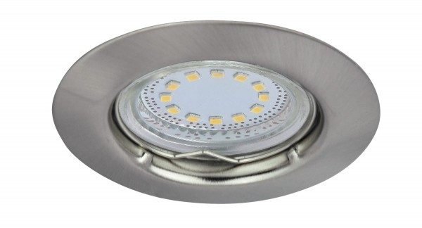 LED Einbaustrahler Set warmweiß GU10 chrom matt