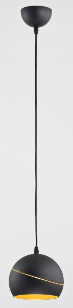 YODA BLACK ORBIT Pendelleuchte schwarz/gold 1-flammig E27 60W