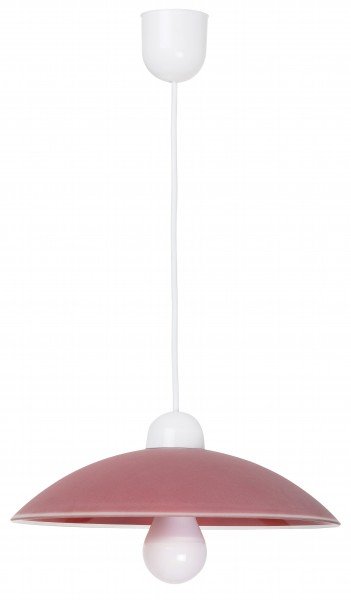 Pendelleuchte aus Glas 1 flammig rot E27 klassisch