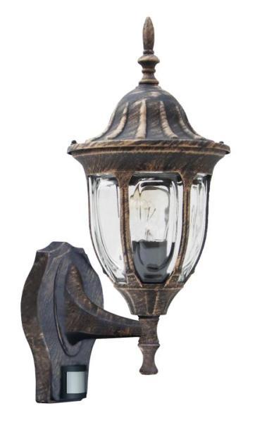 Milano Außenwandleuchte klassisch Metall/Glas antikgold Außenlampe Wandlampe E27 60W