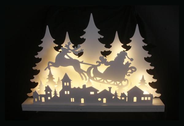 LED-Weihnachtsdeko Winterwald Dorf