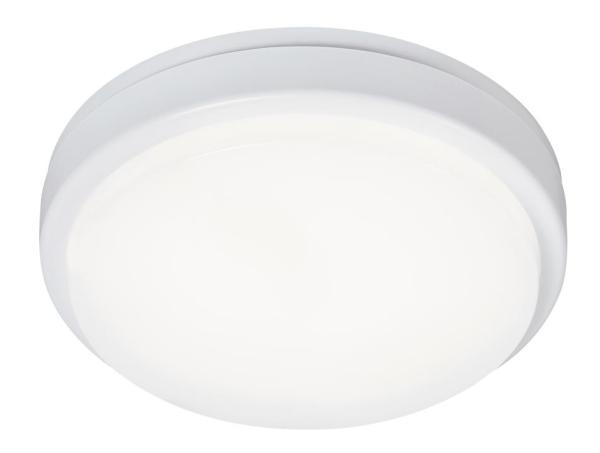 Loki Außendeckenleuchte klassisch Kunststoff weiß Außenleuchte Deckenlampe Außenlampe LED-Board 15W