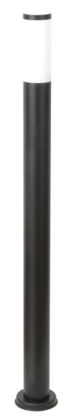 Black torch Wegeleuchte modern Edelstahl/Kunststoff matt schwarz Außenleuchte Standleuchte Pollerle