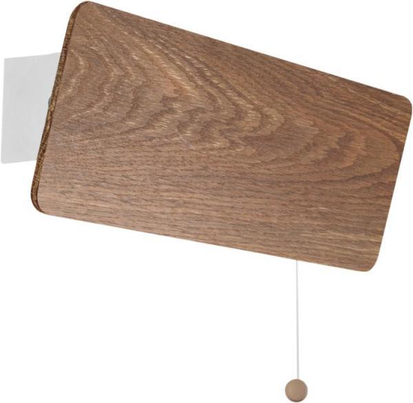 Wandleuchte mit Schalter aus Holz modern