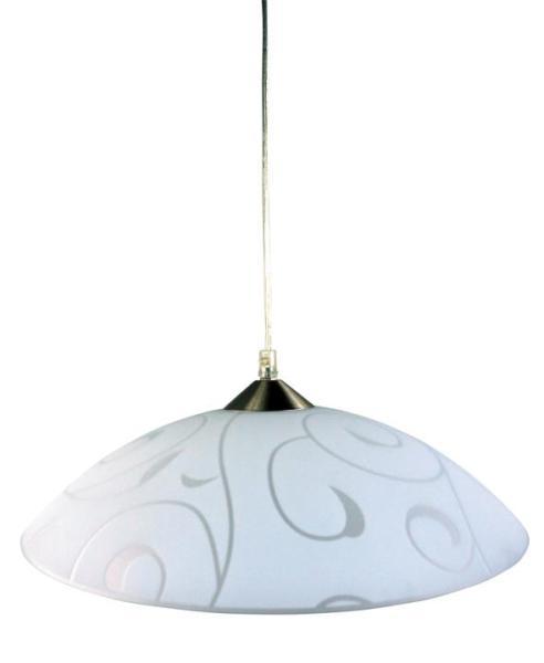 Pendelleuchte aus Glas weiß 1 flammig E27 Harmony lux