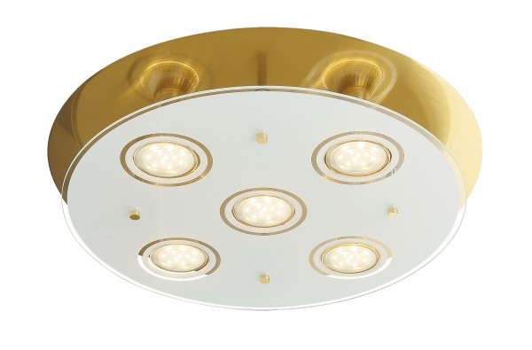LED Deckenleuchte 5W 5 flammig bronze rund warmweiß