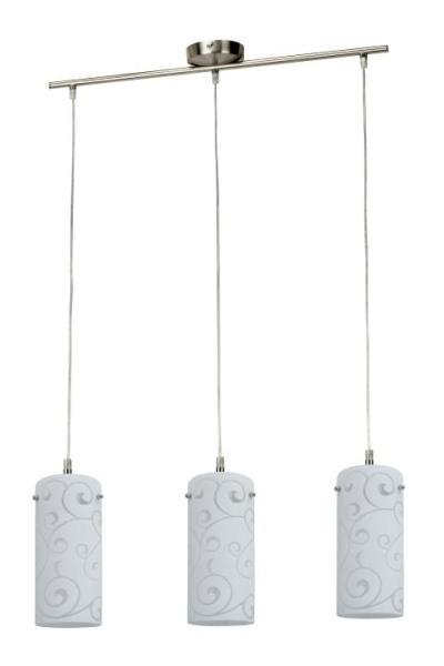 Pendelleuchte aus Glas chrom matt 3 flammig E27 Harmony lux