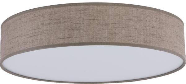 Deckenleuchte RONDO hellbraun/braun aus Stoff/Metall/PVC Ø610mm