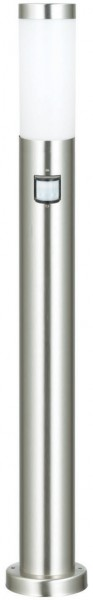 Wegeleuchte silber aus Edelstahl mit Sensor 110cm