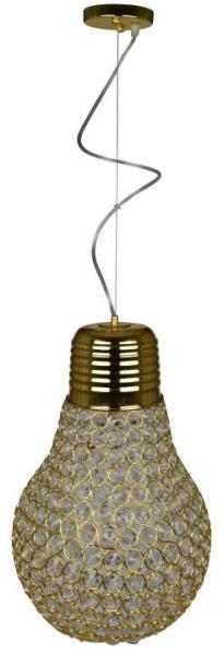 Pendelleuchte gold aus Metall Industriedesign E27 FYNN