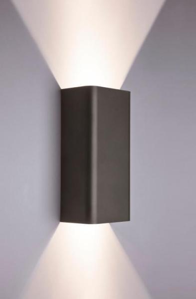 Wandleuchte modern grau 2 flammig Metall GU10