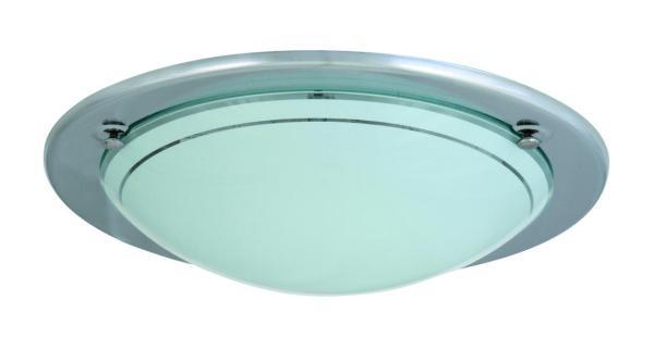 Deckenleuchte E27 Ufo chrom und opal