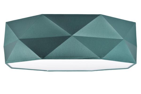 Deckenleuchte Stoff Grün 52 cm mit Magnethalterung