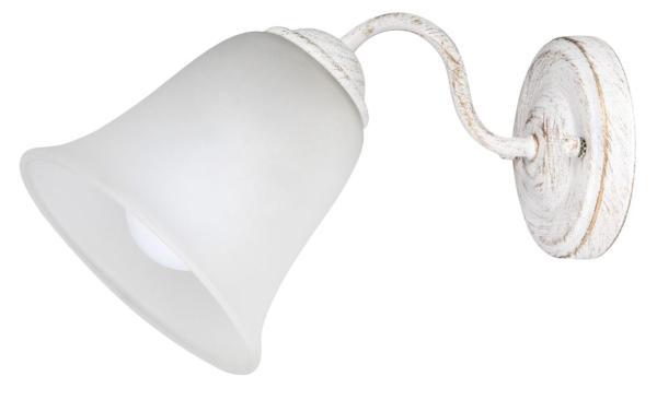 Wandleuchte weiß aus Glas Fabiola E27