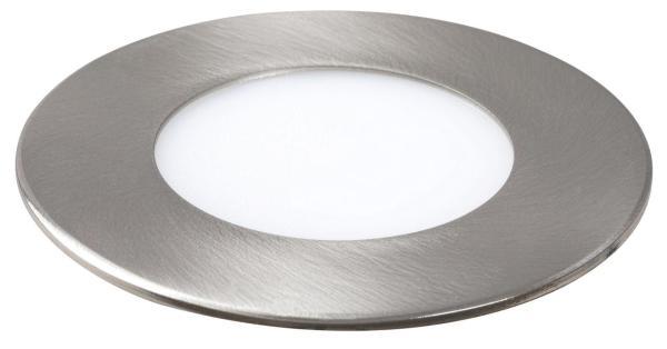 LED Einbauleuchte LOIS in chrom warmweiß Ø85mm