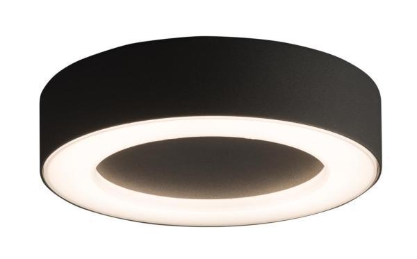 MERIDA Außendeckenleuchte modern Aluminium/Kunststoff grau Außenleuchte Deckenlampe Außenlampe LED-B