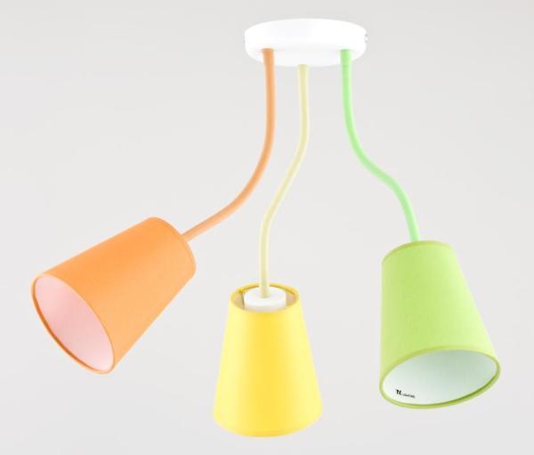 WIRE COLOUR Kinderzimmerlampe grün/gelb/orange 3-flammig E27 60W